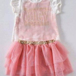 Brand new juicy couture authentic pink tutu set